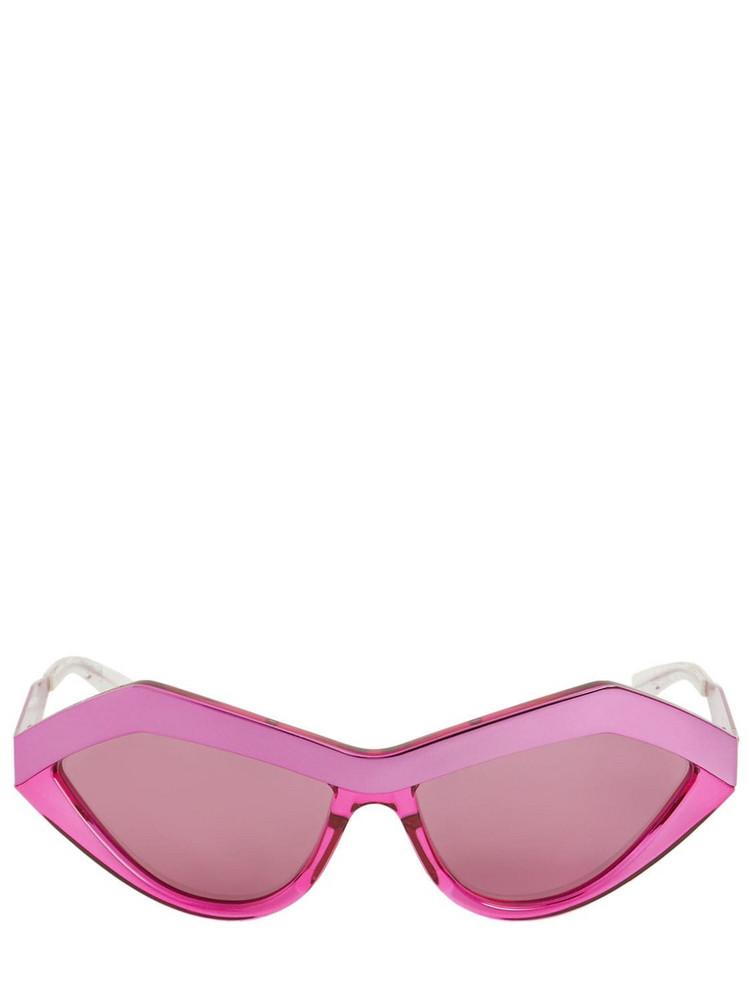 BOTTEGA VENETA Cat-eye Acetate Sunglasses in fuchsia