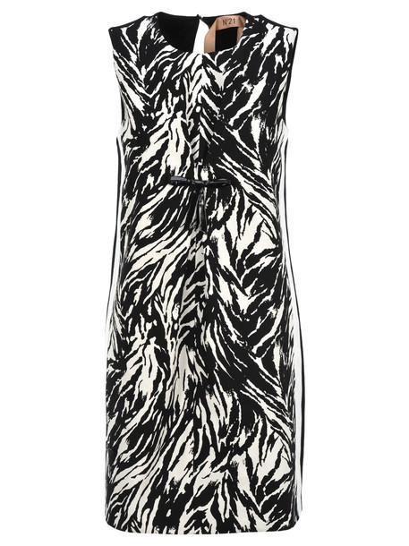 N.21 N21 Zebra Pattern Dress in white