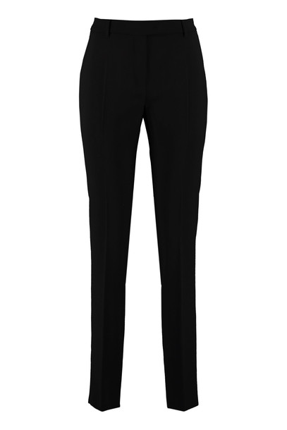 Max Mara Studio Virgin Wool Trousers in black