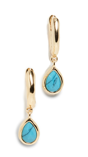 Gorjana Olivia Huggie Earrings in turquoise