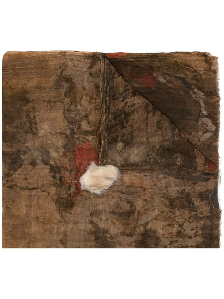 Uma Wang abstract-print scarf in brown