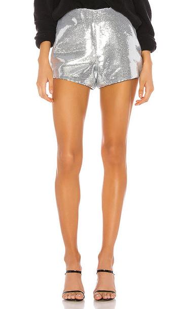 BLANKNYC Sequin Short in Metallic Silver