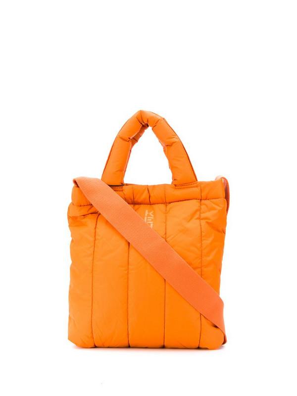 Kenzo logo print padded tote bag in orange