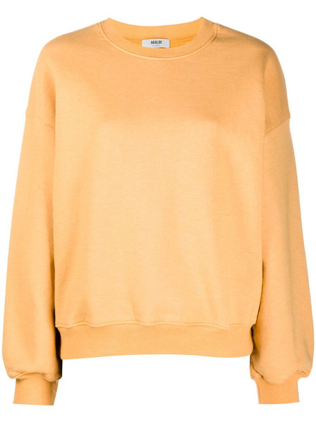 AGOLDE round neck sweatshirt in yellow