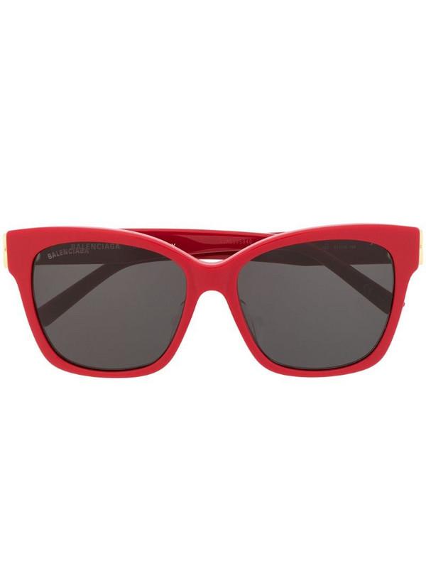 Balenciaga Eyewear cat-eye tinted BB sunglasses in red