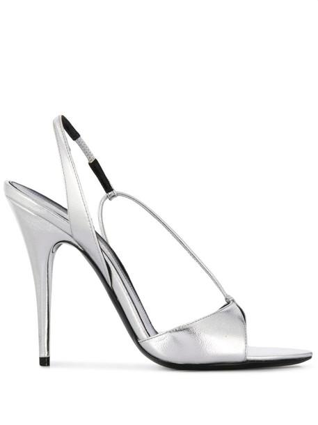 Saint Laurent Anouk sandals in silver
