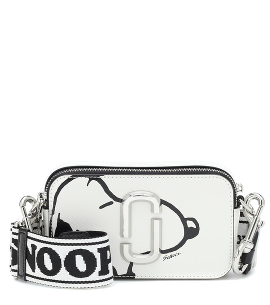 Marc Jacobs x Peanuts® Snapshot leather crossbody bag in white
