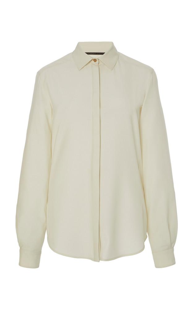 Agnona Eternals Fresco Lana Button Down Shirt in white