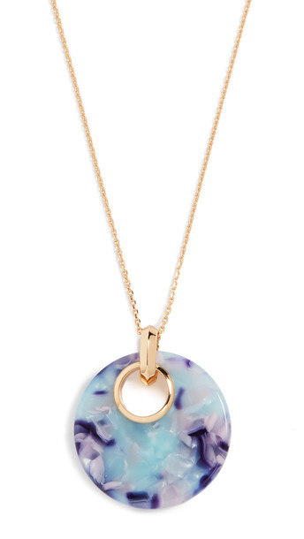 Kate Spade New York On The Dot Small Pendant Necklace in blue / multi