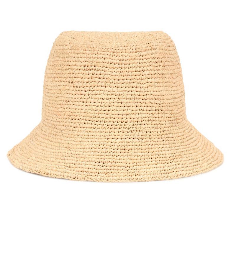 Gucci Raffia bucket hat in neutrals