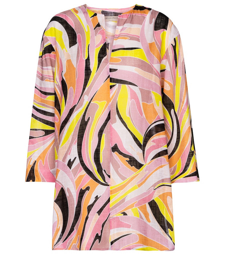 Emilio Pucci Beach Printed cotton blouse in pink