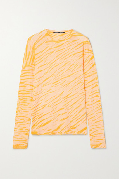 Proenza Schouler - Tiger-print Tie-dyed Cotton-jersey Top - Peach