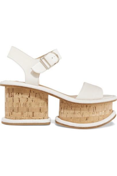 Gabriela Hearst - Harrigan Leather Platform Sandals - Ivory