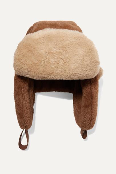 Ruslan Baginskiy - Ushanka Two-tone Faux Fur Hat - Brown