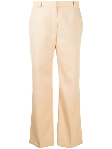 Nina Ricci mid-rise straight trousers in brown