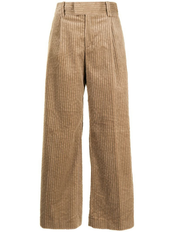Undercover corduroy wide-leg trousers in brown