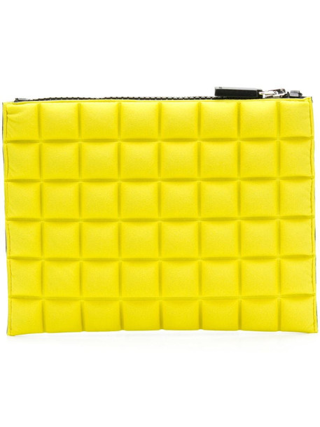 No Ka' Oi chocolate bar quilted pouch in yellow