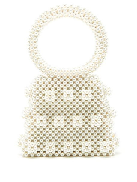 Shrimps - Dante Faux Pearl Embellished Bag - Womens - Cream