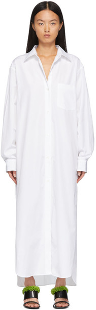 Dries Van Noten White Poplin Shirt Dress