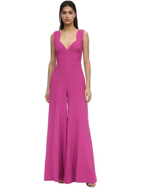 EMILIA WICKSTEAD Double Crepe Long Jumpsuit in purple