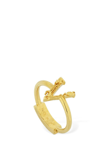 VERSACE Virtus Thin Ring in gold