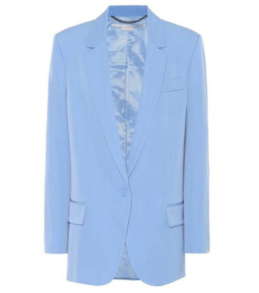 Stella McCartney Wool blazer in blue