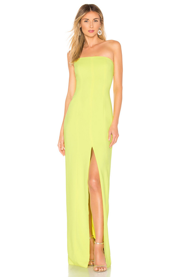 Jay Godfrey Martell Gown in yellow