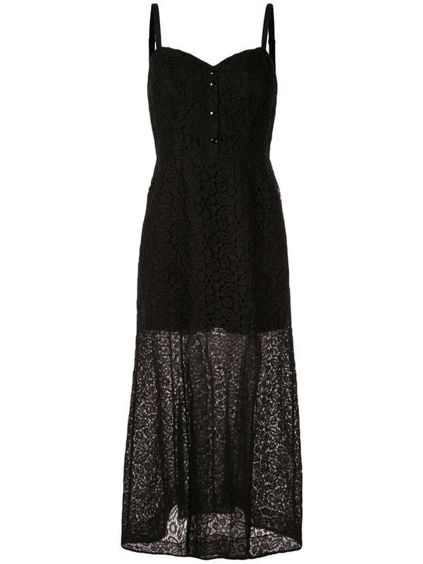 Olivier Theyskens lace maxi dress in black