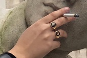 nail accessories,knuckle ring,ring,gold ring,chevalier ring