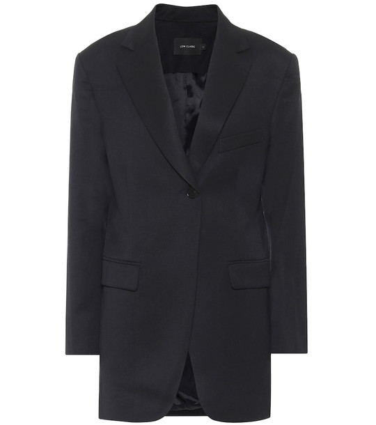 Low classic Wool blazer in blue
