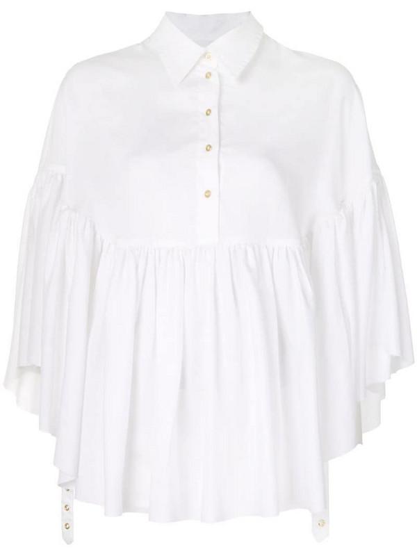Marques'Almeida cape style blouse in white