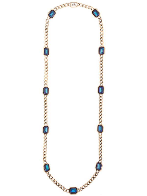 Yves Saint Laurent Pre-Owned 1992 beaded chain necklace in gold