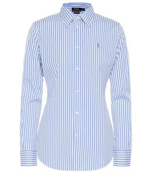 Polo Ralph Lauren Striped cotton-blend shirt in blue