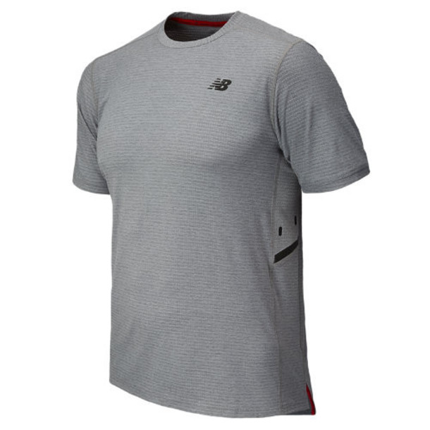 New Balance 5191 Men's Shift Short Sleeve Top - Athletic Grey (MFT5191AG)