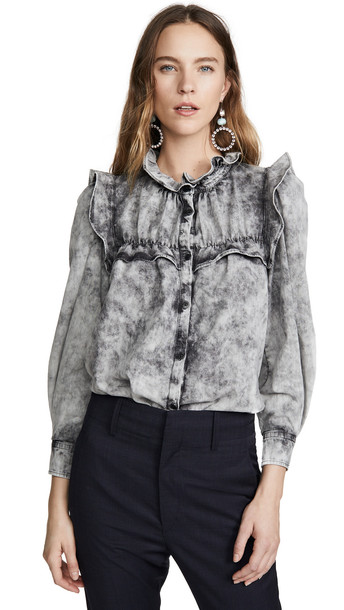 Isabel Marant Etoile Idety Top in black