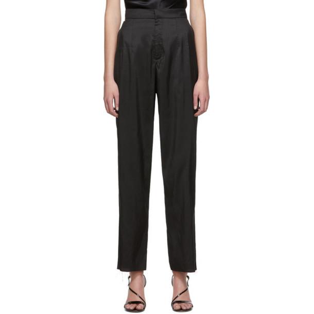 Marques Almeida Black Silk Trousers