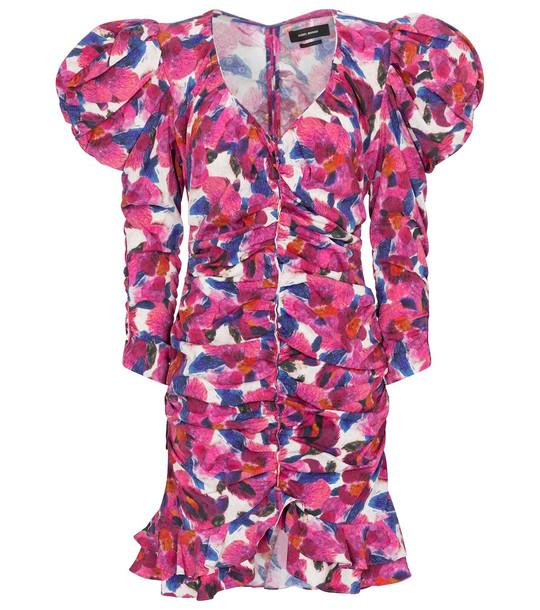 Isabel Marant Mireya floral minidress in pink