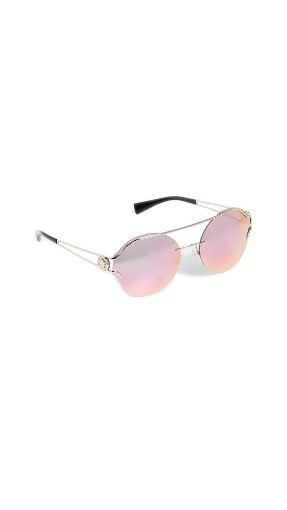 Versace Baroque Square Sunglasses in gold