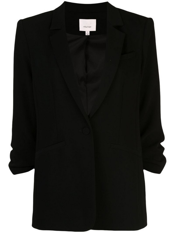 Cinq A Sept crepe Khloe blazer in black