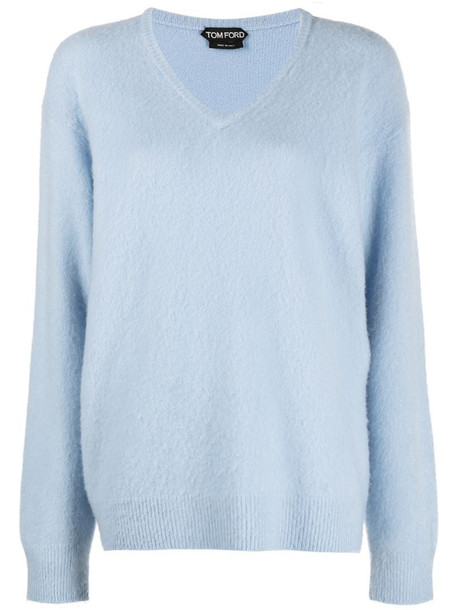 Tom Ford cashmere knitted jumper in blue