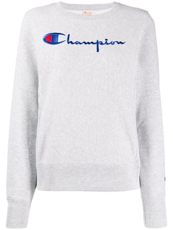 Champion logo sweater in grey