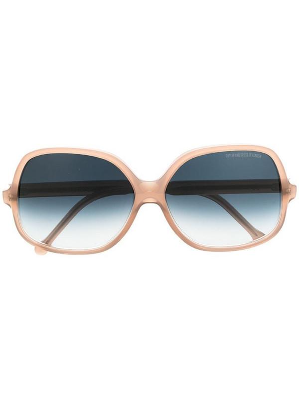 Cutler & Gross oversized gradient sunglasses in brown