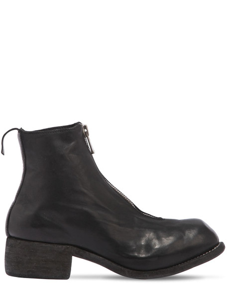 GUIDI Pl1 Zip-up Full Grain Leather Boots in black