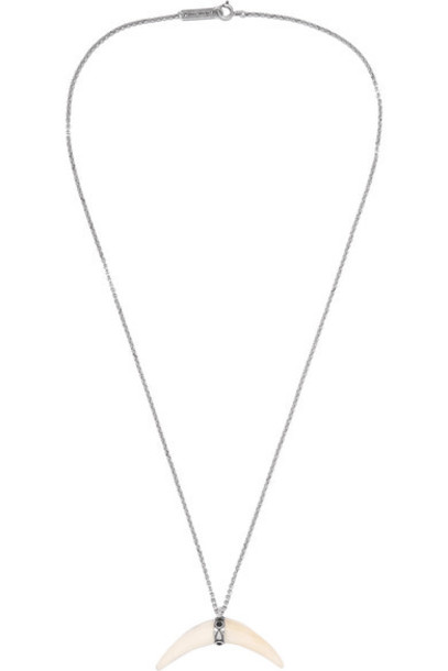 Isabel Marant - Cap Silver-tone And Bone Necklace - White