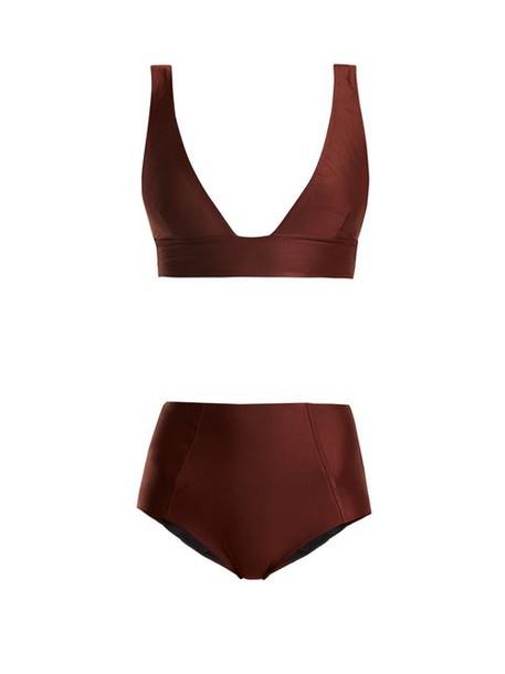 Haight - High Rise Triangle Bikini - Womens - Brown