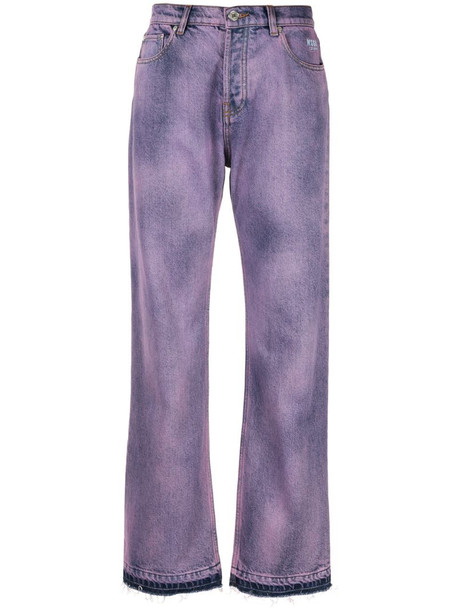 MSGM dyed jeans in purple