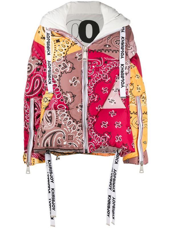 Khrisjoy bandana-print puffer jacket in brown