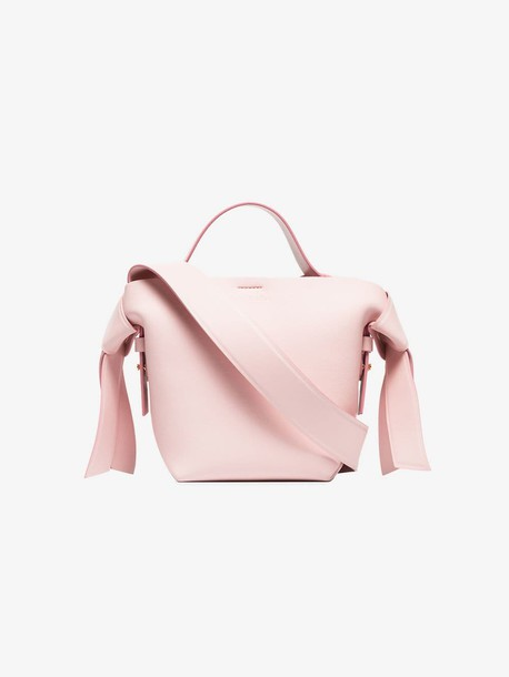 Acne Studios pink musubi mini leather shoulder bag