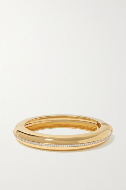 Fred Leighton - Collection 18-karat Gold Diamond Bangle