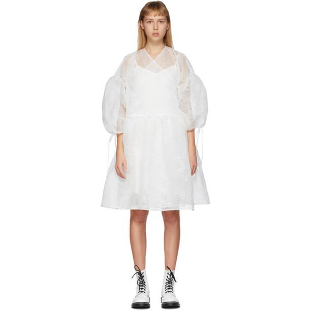 Cecilie Bahnsen White Organza Bellis Dress
